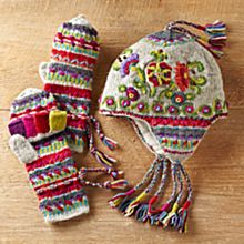 Kamala Earflap Hat and Convertible Mittens