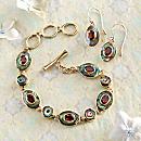 Balinese Abalone and Garnet Jewelry