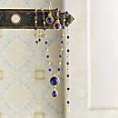 Indian Lapis Lazuli Necklace and Earrings