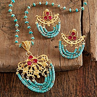 Ottoman Turquoise and Ruby Jewelry