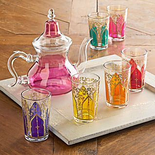 Moroccan Medina Glass Tea Set