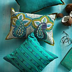 Indian Jazz and Paisley Morning Pillows