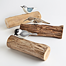 Hand-carved Songbird Trio