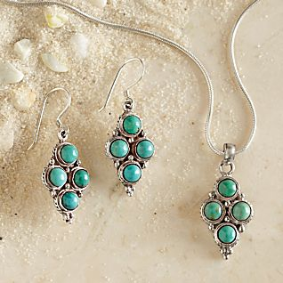 Four-stone Turquoise Jewelry