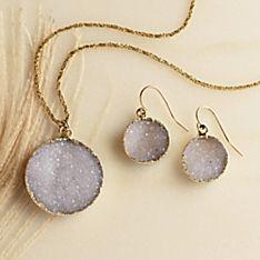 Agate Druzy Jewelry