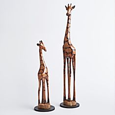 Zimbabwean Olive-wood Giraffes