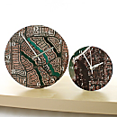 ''My Town'' Aerial Photo Clocks