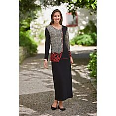 Indian Manjaa Collage Shirt and Comfort Travel Skirt