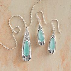 Roman Glass Petal Jewelry
