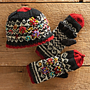 Patan Hand-knit Hat & Gloves