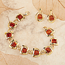 Amber Vermeil Jewelry