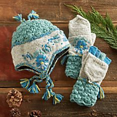 Nepali Padme Earflap Hat and Gloves
