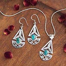 Nepali Geometric Turquoise Jewelry