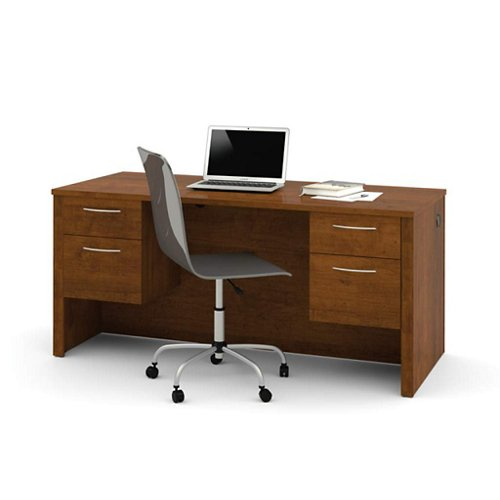 "Bestar 66"" Executive Desk w/Half Peds (60450-1163)"