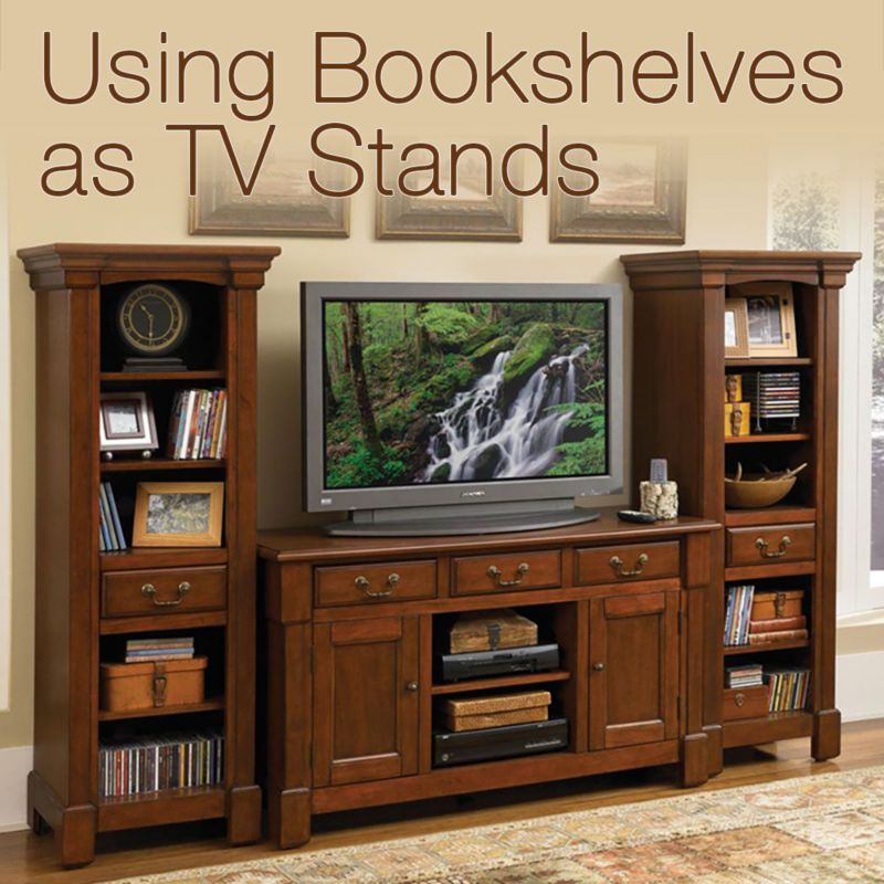 Using Bookshelves As TV Stands