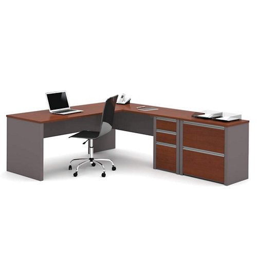 Bestar LWorkstation w/Lateral File (93883-39)