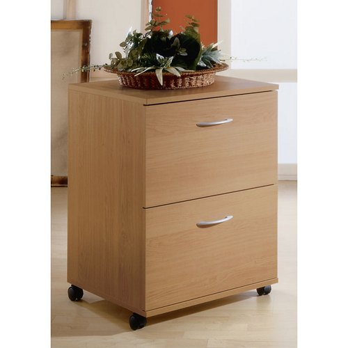 Natural Maple Two Drawer Mobile File - Nexera