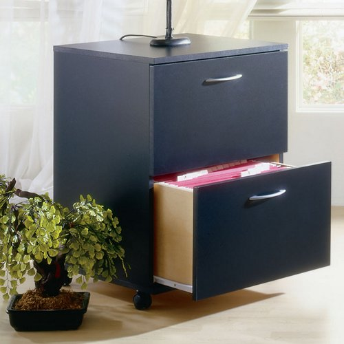 Black Two Drawer Mobile File - Nexera