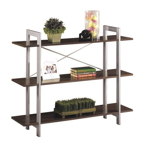 Espresso Finish Three Shelf Bookcase - Office Star