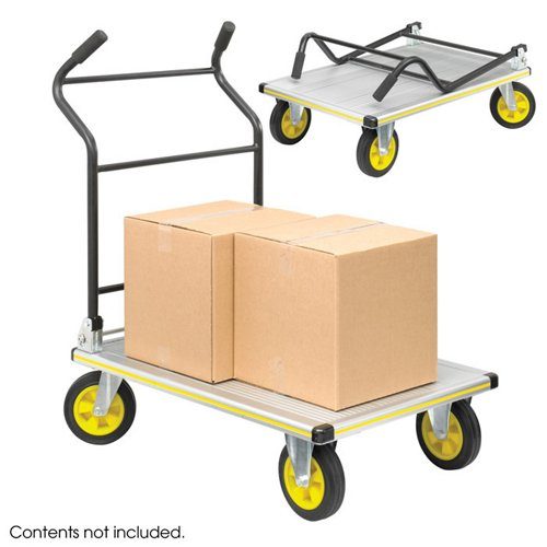Safco StowAway Platform Truck Silver/Black Finish from OfficeFurniture.com