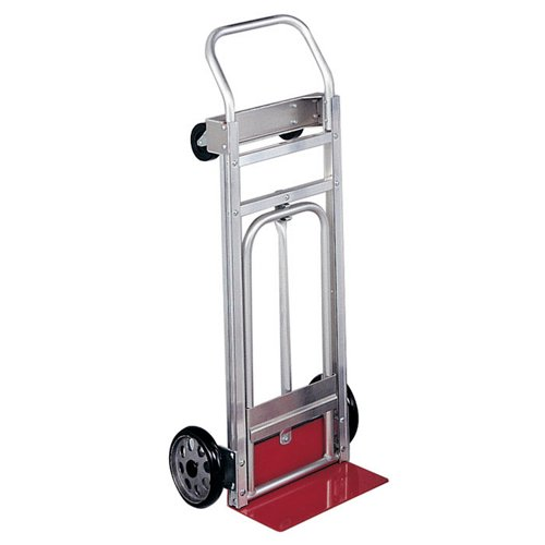 Safco Convertible Aluminum Frame Hand Truck Aluminum/ Red Accents from OfficeFurniture.com