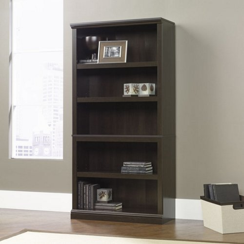 Sauder Cinnamon Cherry Finish Five Shelf Bookcase (410174)