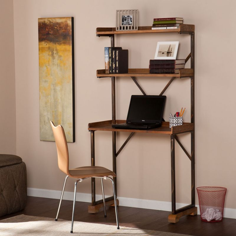 Trends On A Budget Industrial OfficeFurniturecom - Metal table with shelves