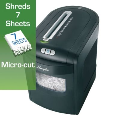 6 Gallon Micro Cut Level P5 Paper Shredder - Swingline
