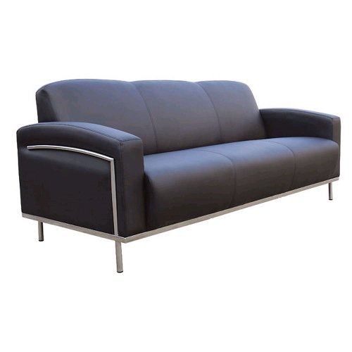 Boss Black Vinyl Reception Sofa (BR99003)