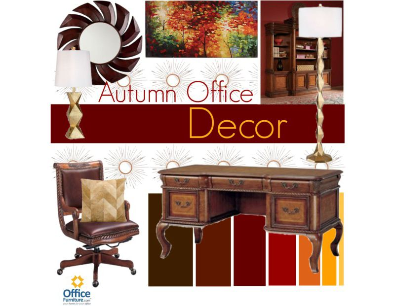 Warm Up With Autumn Office Decor