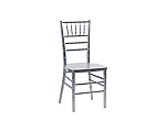 Reception Chair Silver (Stackable)