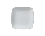 White Square Rounded Rim Lunch 9""