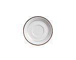 White Rim Gold Border Cream Soup Liner