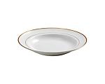 White Rim Gold Border Soup Plate