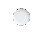 White Coupe Platinum Border Salad 7.75 in.