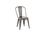 Market Bistro Chair Grey Metal