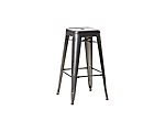 Bar Stool Market Grey Metal
