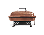 Chafer Antique Copper Oblong 8qt. Hammered (Liner Not Included)