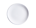 Aster Matte White Lunch 8 in.