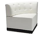 Metro White Tufted Corner Chair
