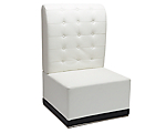 Metro White Tufted Armless High Back Chair