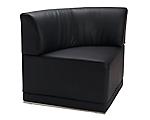 Metro Black Corner Chair