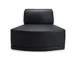 Metro Black Inverted Corner Chair