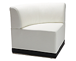 Metro White Corner Chair