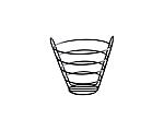 Wrought Iron Bread Basket Size XL