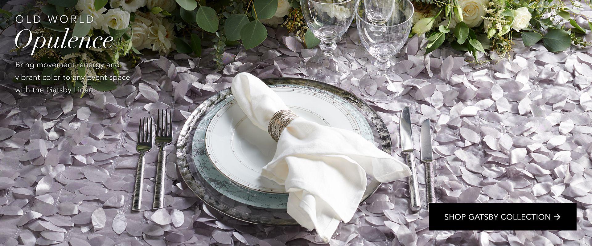 Shop Party Rental Ltd. Gatsby Textured Linen
