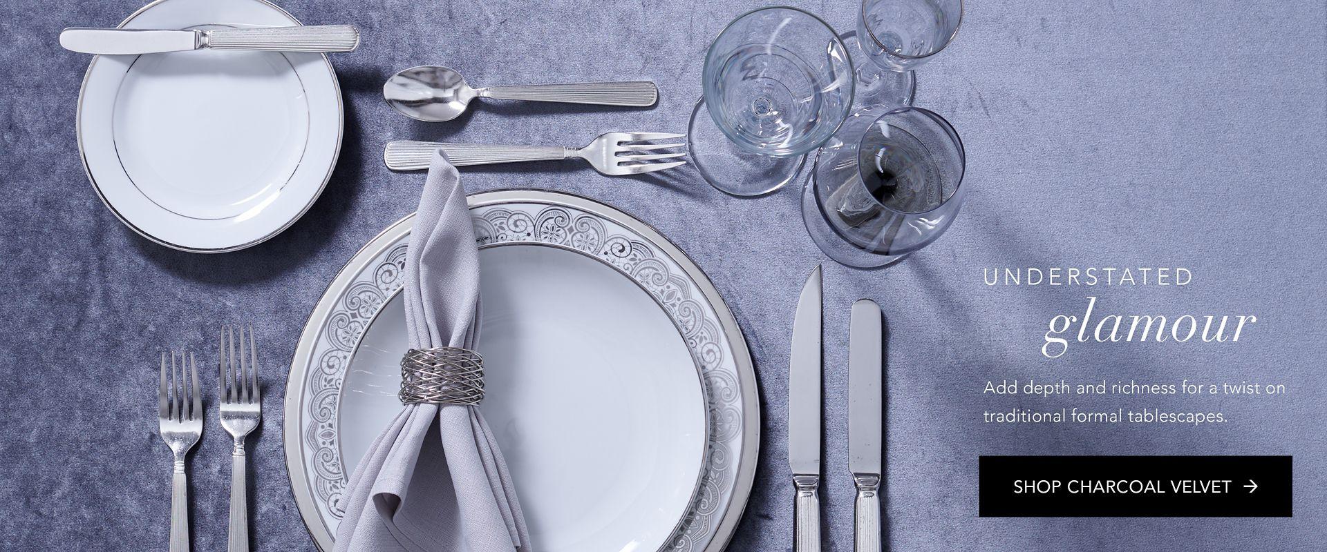 Shop Party Rental Ltd. Charcoal Velvet Linen