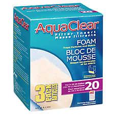 Aqua Clear 20 Foam Filter Inserts
