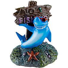 Top Fin® Aquarium No Fishing Shark Ornament