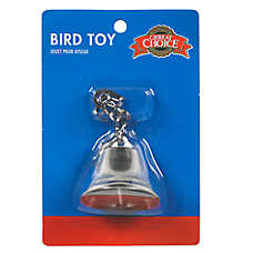 Grreat Choice® Chrome Bell Bird Toy
